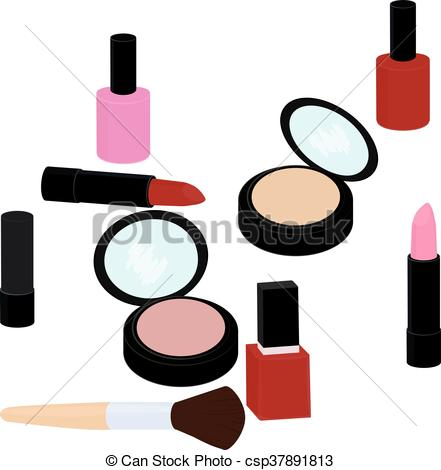 441x470 Fashion Beauty Products Set, Lipstick, Nail Polish, Powder