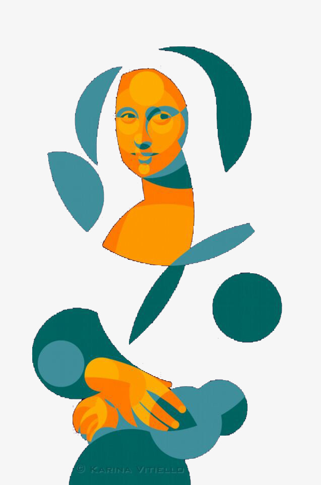 637x962 Pieces Together Mona Lisa, Mona Lisa, Portrait, Fragment Png Image