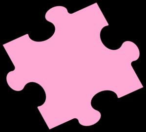 299x270 Pink Puzzle Piece Clip Art