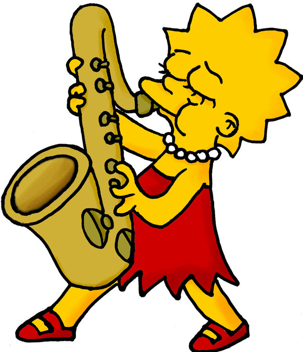 600x696 Lisa And Her Sax By Simpson Freak