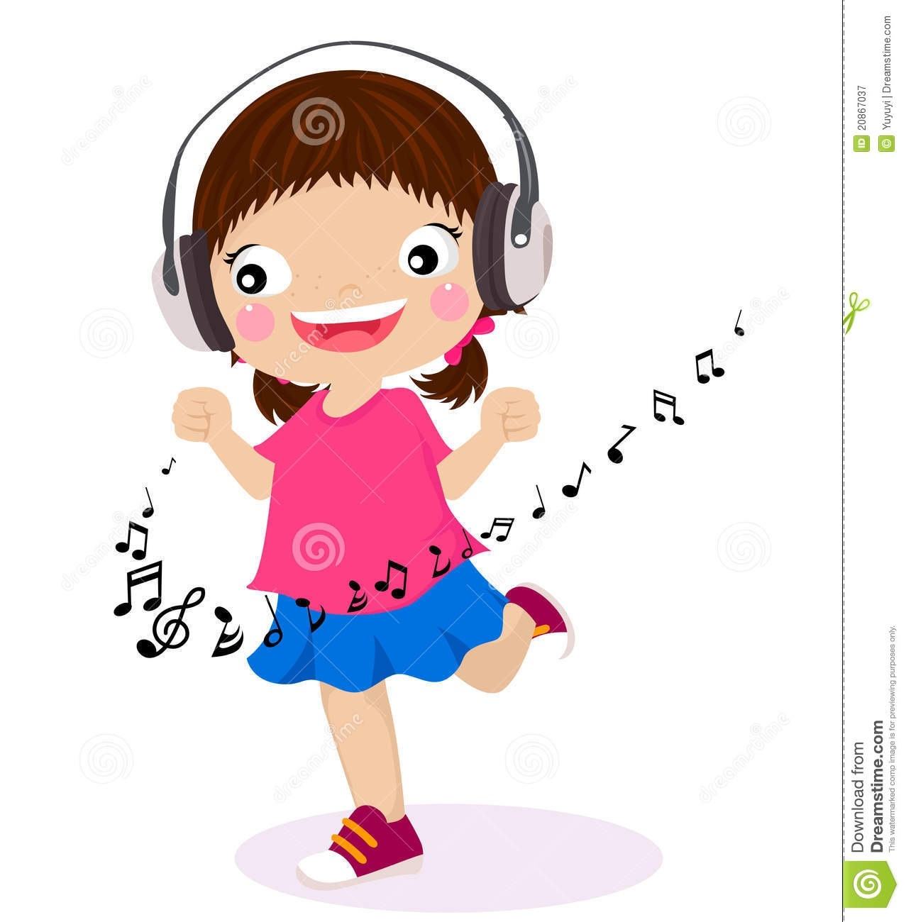 1277x1300 Kids Listening To Music Clipart