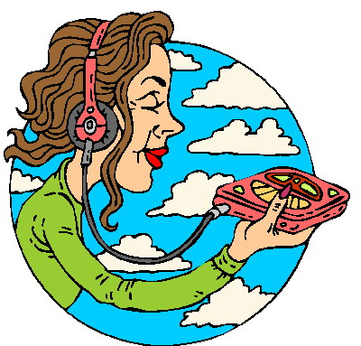 400x383 Best Listening To Music Clipart