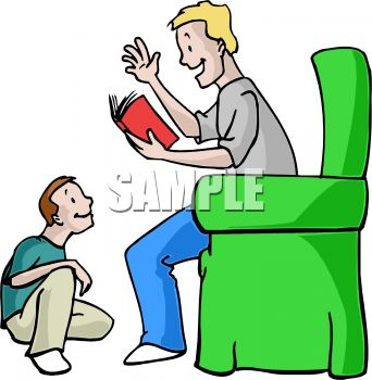 342x350 Boy Listening To His Father Read A Story