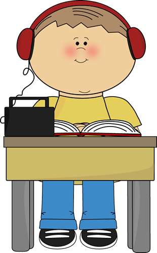 310x500 Boy Reading And Listening To Book Clip Art
