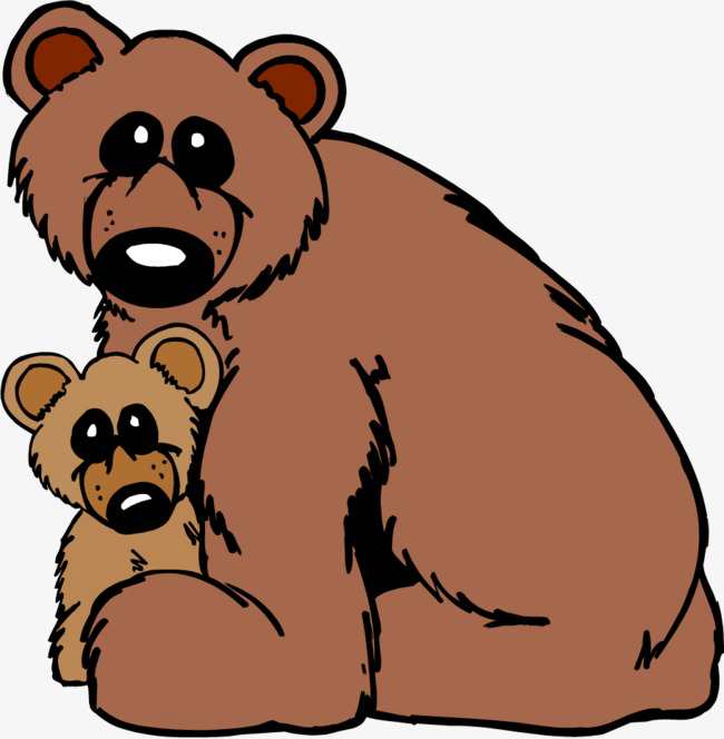 650x664 Big Bear Little Bear, Brown, Yellow, Two Png Image And Clipart