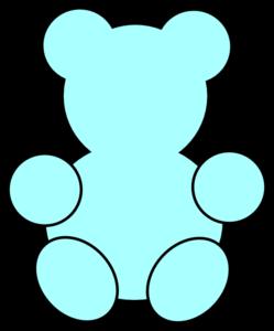 249x300 Blue Bear Clipart