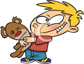 350x270 Little Boy Holding Teddy Bear
