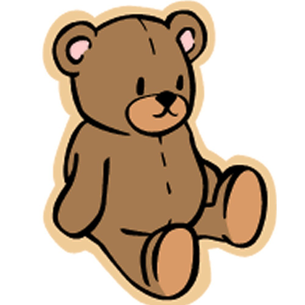 1000x1000 Sketsa Teddy Bear Free Download Clip Art