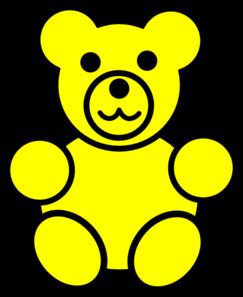 243x297 Yellow Bear Clip Art