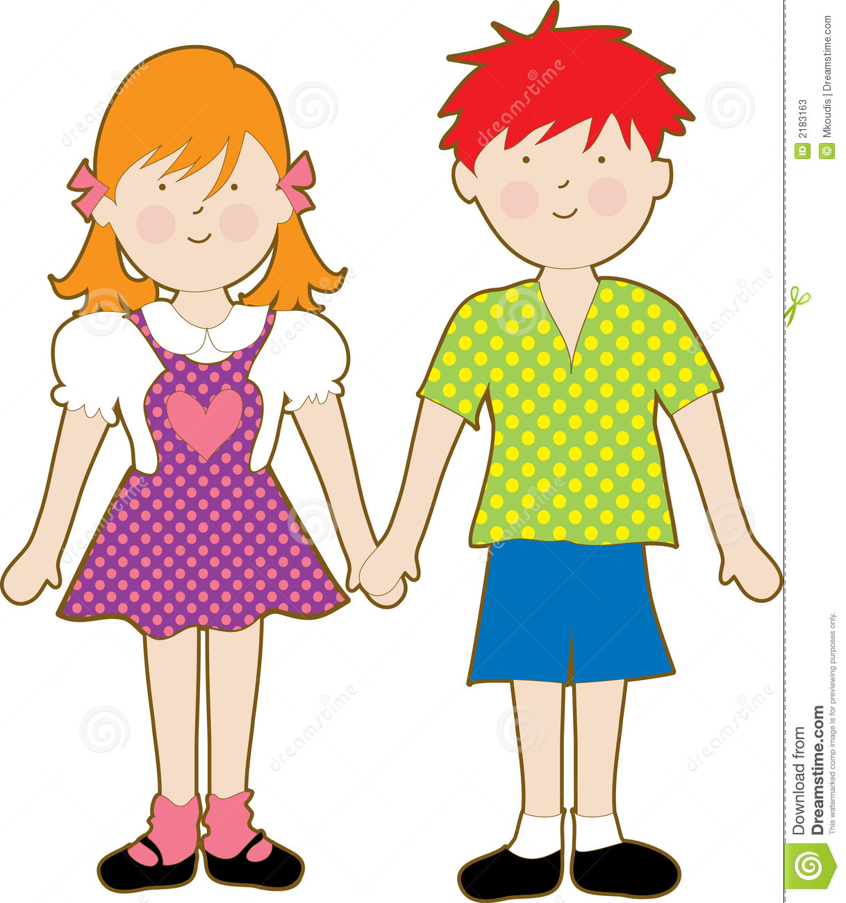 Little Boy And Girl Clipart