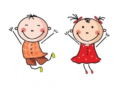 400x290 Happy Boy And Girl Clipart Design Elements Stock Graphics Image