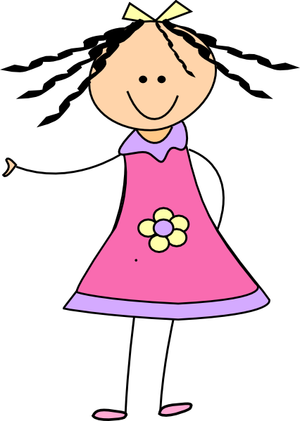 426x599 Little Girl Clip Art