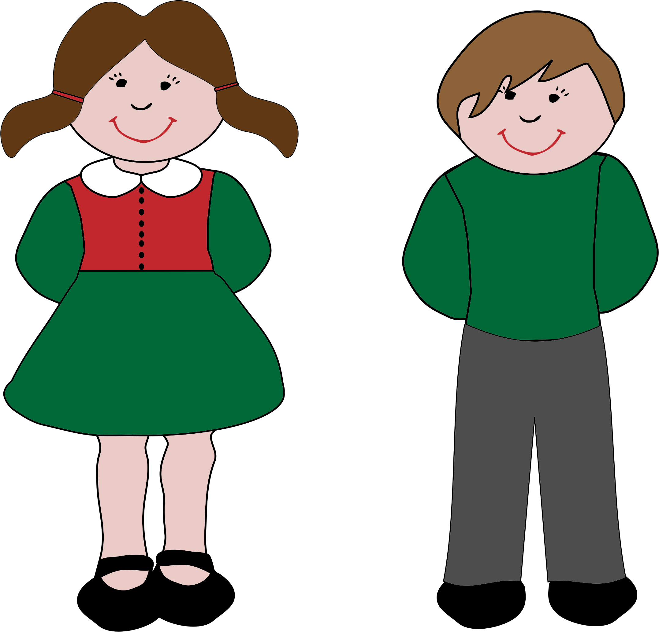 2154x2068 Boy And Girl Clipart Png Amp Boy And Girl Clip Art Png Images