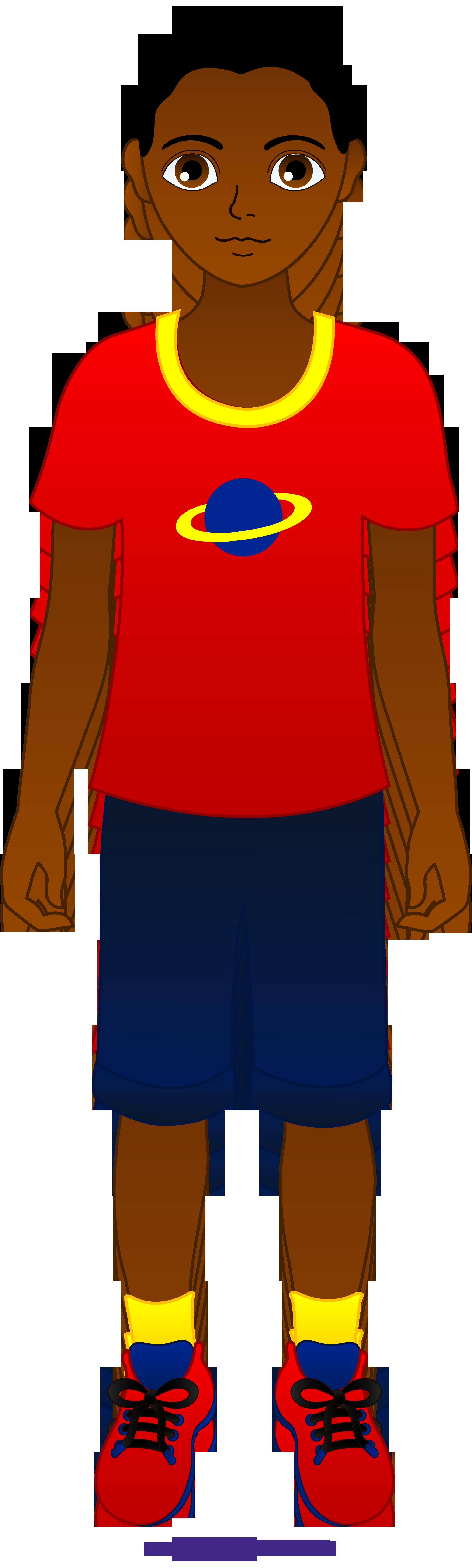 2024x6719 Little Boy African American Clipart