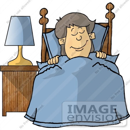 450x450 Little Boy Sound Asleep, Tucked Into Bed Clipart