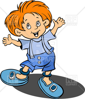 342x400 Red Haired Happy Little Boy Royalty Free Vector Clip Art Image