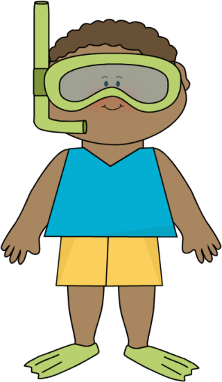 320x550 Summer Little Boy And Snorkle Gear Clip Art Clip Art