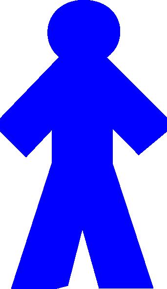 342x592 Thick Boy Blue Clip Art