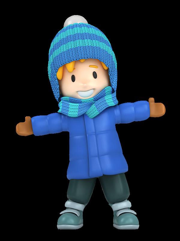 600x800 Winter Little Boy Clip Art Clip Art