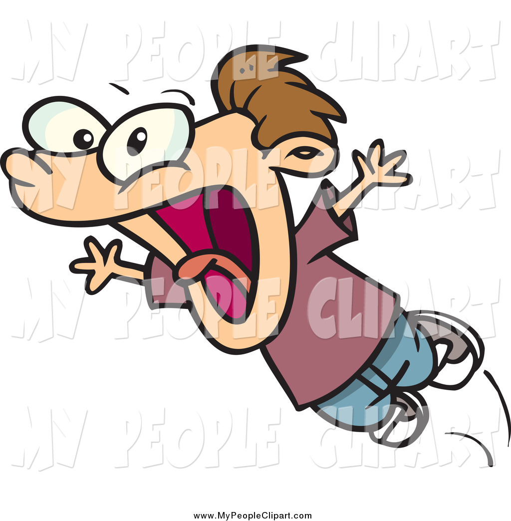 1024x1044 Clip Art Of A Cartoon Screaming Boy By Toonaday