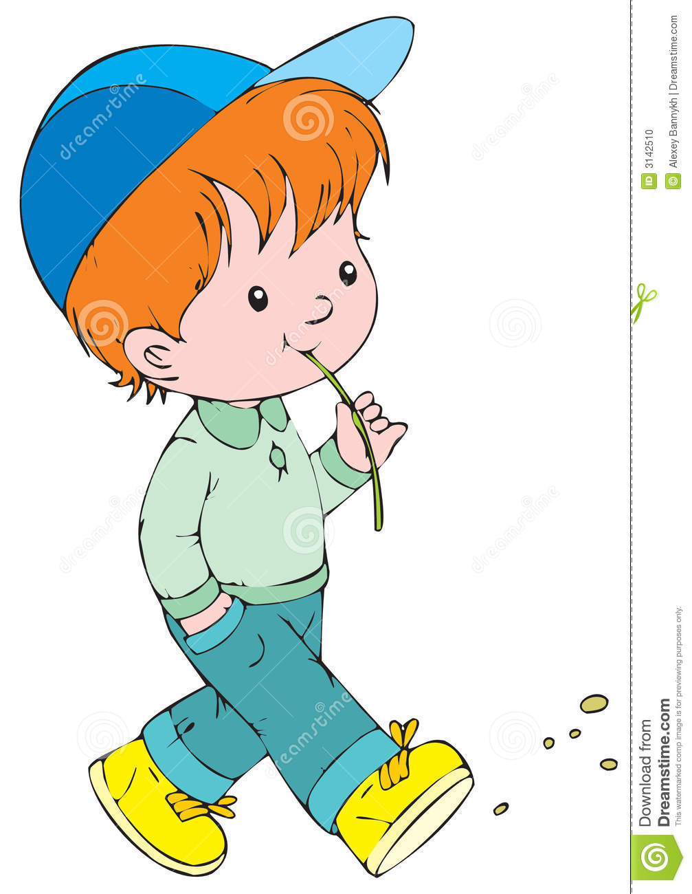 1007x1300 Little Boy Walking Clipart