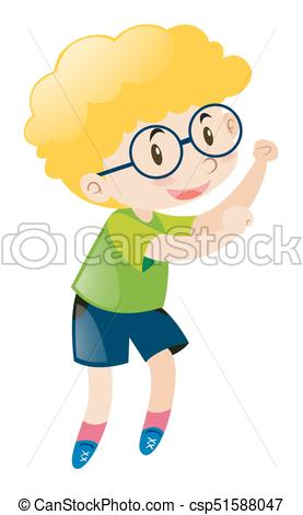 277x470 Little Boy Wearing Glasses Illustration Eps Vector