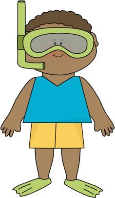 236x405 Summer Little Boy And Snorkle Gear Clip Art Preschool