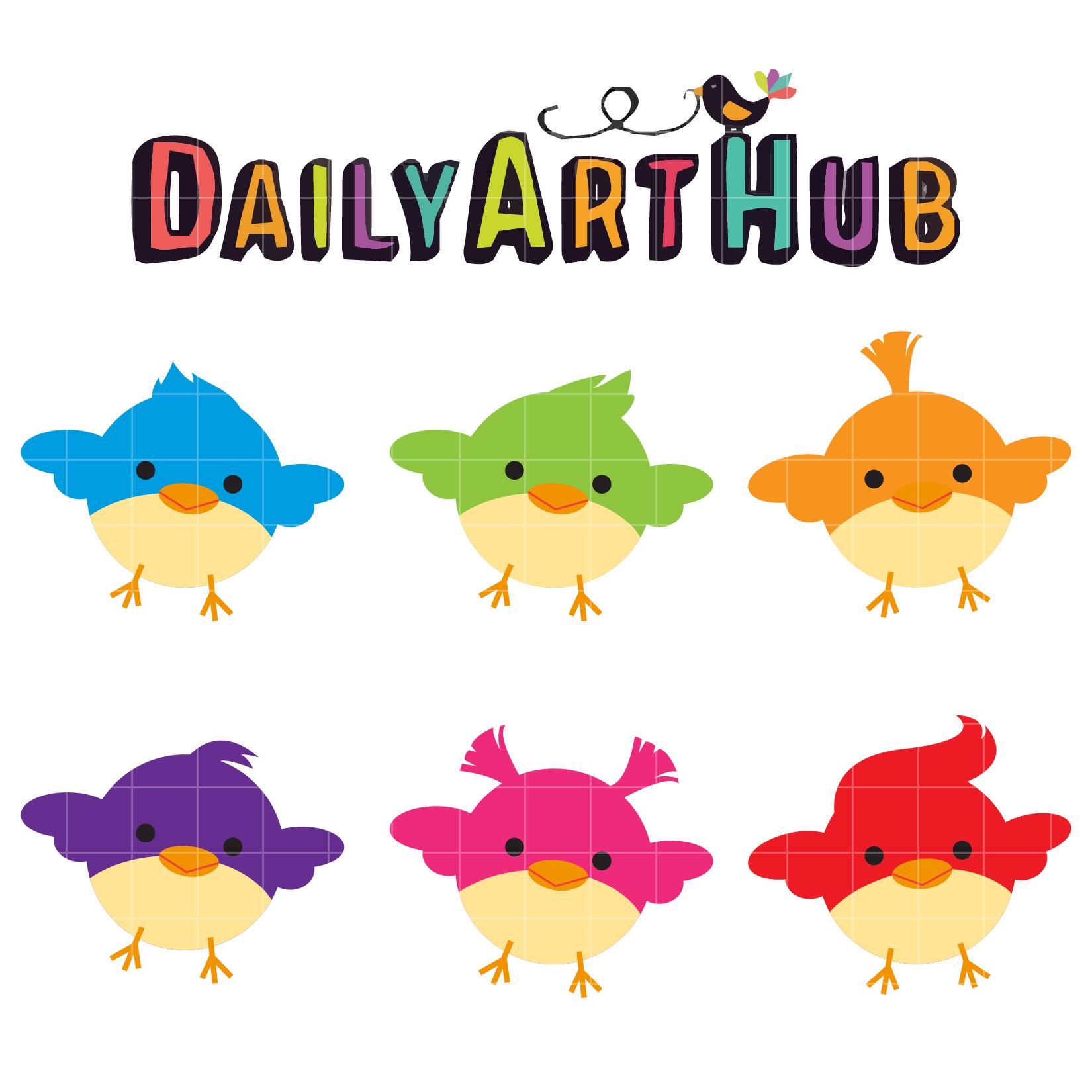 1650x1650 Cute Little Birds Clip Art Set Daily Art Hub Free Clip Art