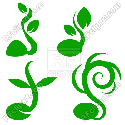 400x400 Little Green Sprout Icons Royalty Free Vector Clip Art Image