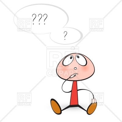 400x400 Little Man Thinking Vector Image Vector Artwork Of People