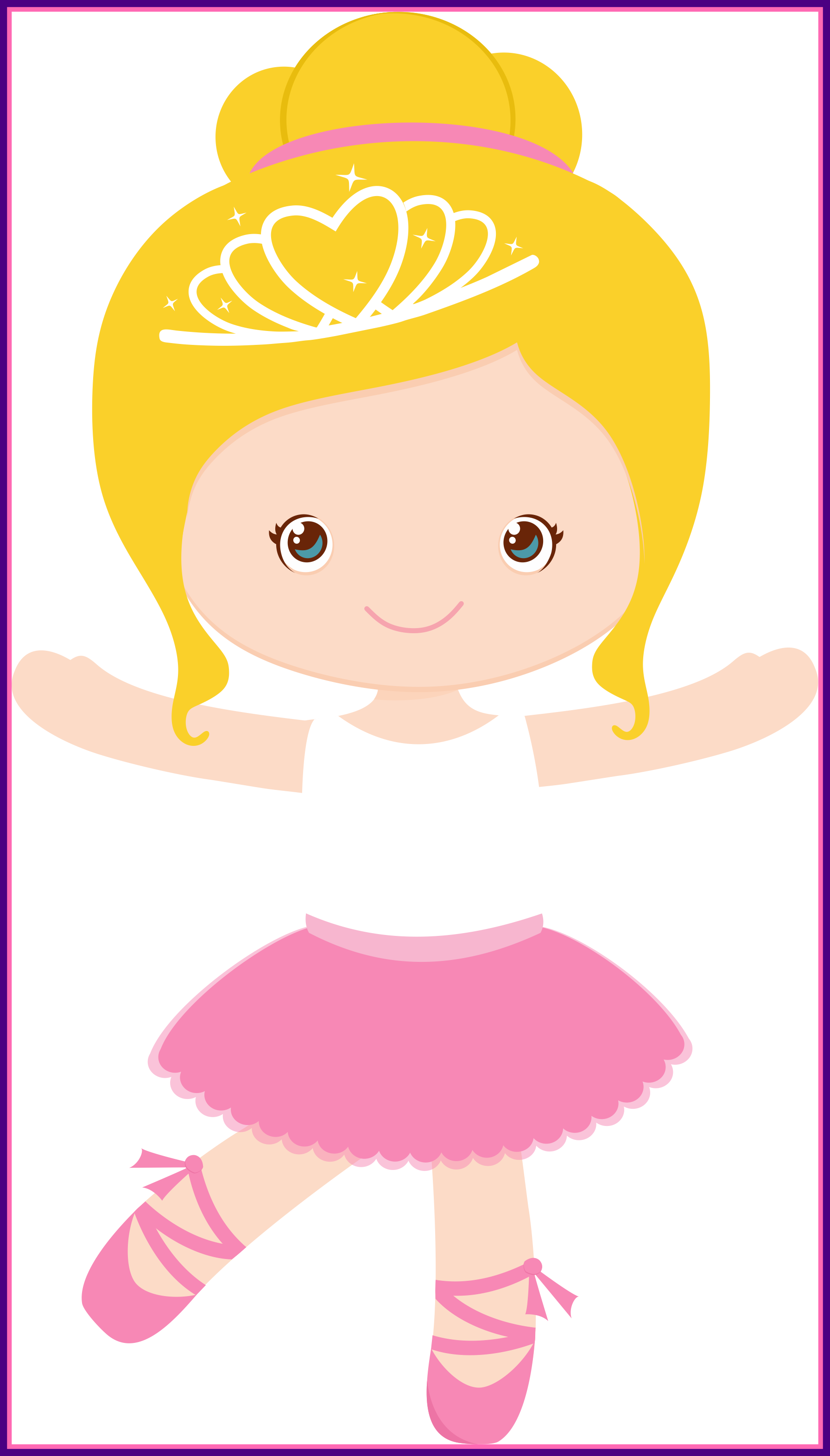 Little Girl Ballerina Clipart