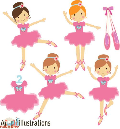 503x539 Ballerina Clipart , Dancing Girl, Vector Graphics , Commercial Use