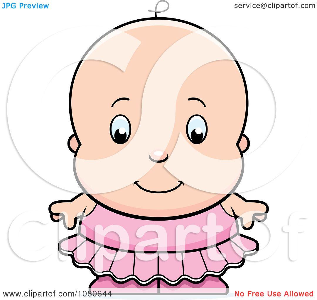 1080x1024 Clipart Cute Ballerina Baby Girl In A Pink Tutu