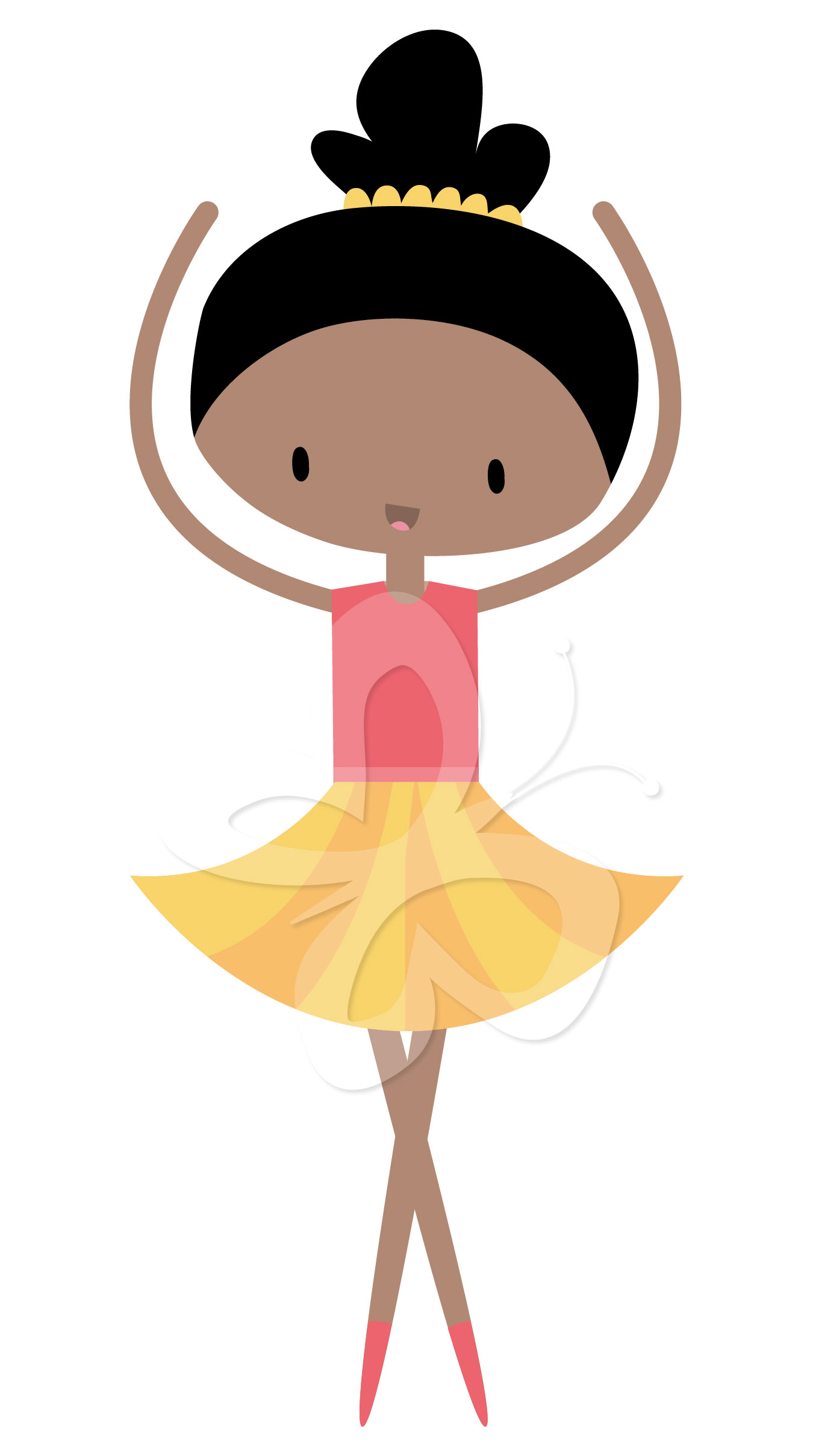 1350x2416 Collection Of Little Girl Ballerina Clipart Black And White