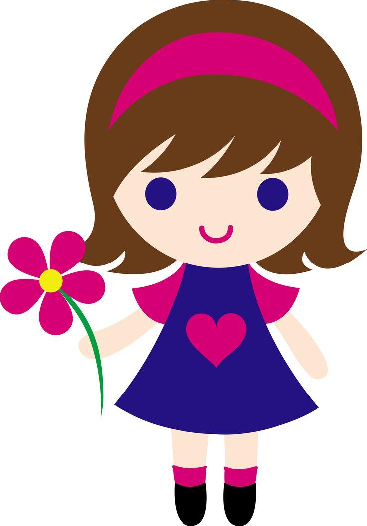 736x1056 Little Girl Clipart