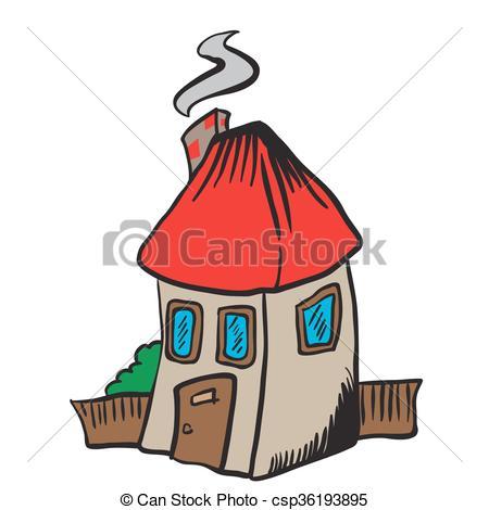 450x470 Little House Isolated On White Cartoon Eps Vectors
