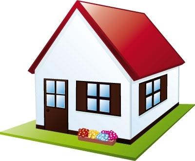 400x330 Little House With Garden Clip Arts, Free Clipart