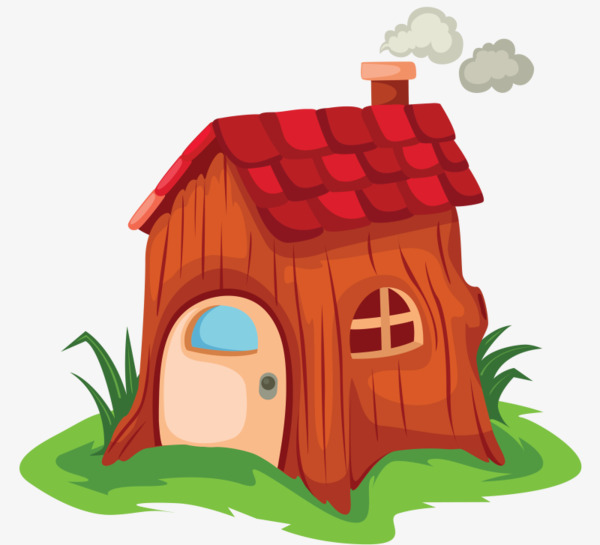 600x545 Smoky Little House, Chimney, Small House, Cartoon Png Image
