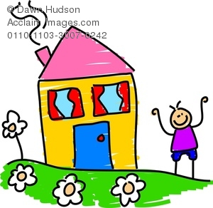 300x292 A Happy Little Boy Standing Outside His House In The Garden