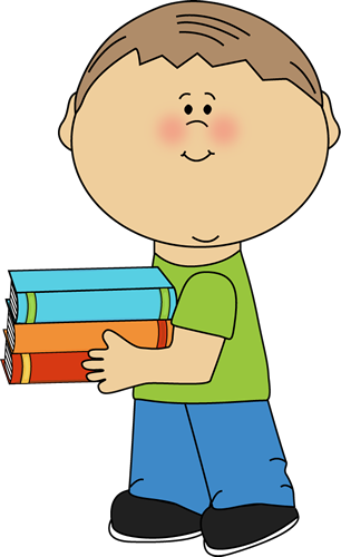 306x500 Little Kid Clipart Little Boy Carrying School Books Clip Art