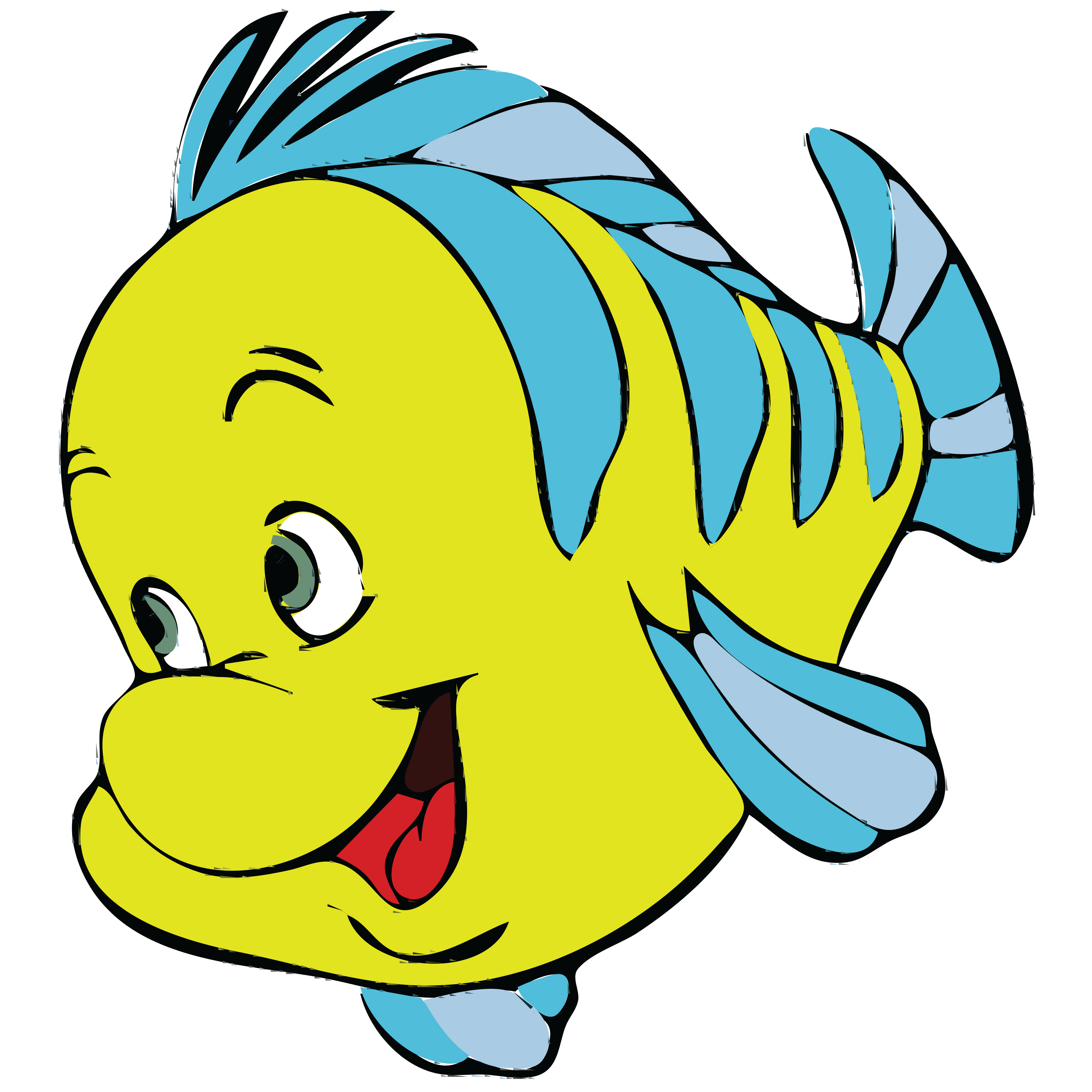 4000x4000 Free Clipart Of A Fish From Little Mermaid, Flounder
