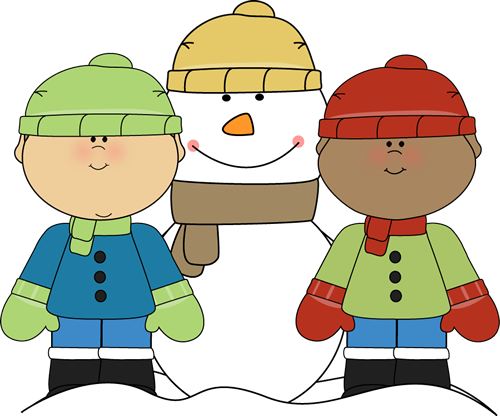 500x416 Little Boys With Snowman Snowman Penguins Winter Teaching Units