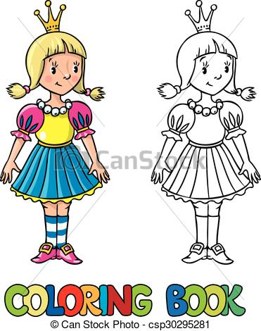 371x470 Little Princess. Coloring Book. Coloring Book Or Coloring