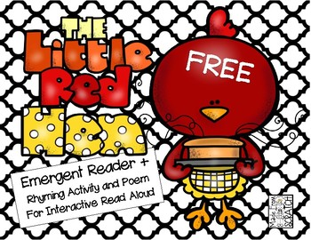 350x270 Free The Little Red Hen Emergent Reader + Rhyming Activity By
