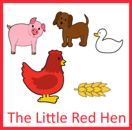 263x260 The Little Red Hen {Felt Story Set} Red Hen, Hens And Felt Stories