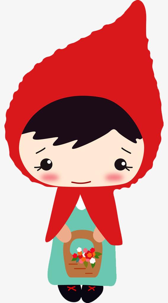 567x1024 Cartoon Little Red Riding Hood, Red Hat, Cartoon, Baskets Png