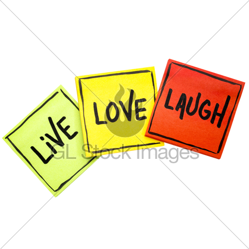 500x500 Live, Love, Laugh Reminder Notes Gl Stock Images