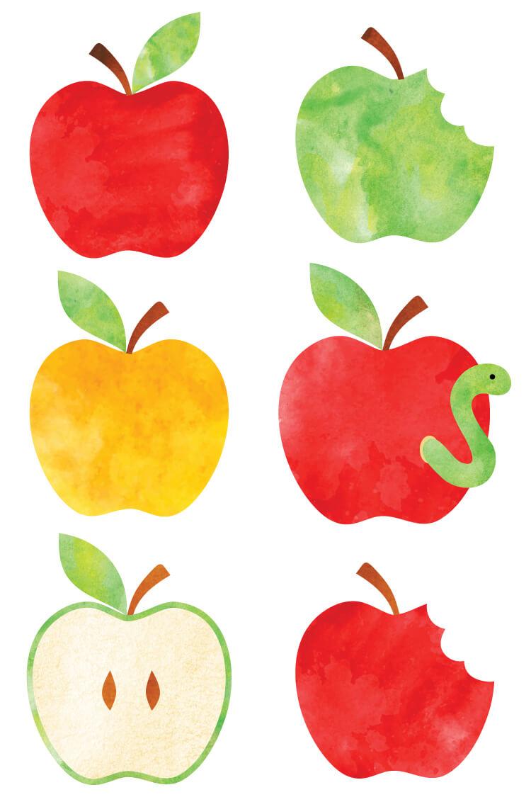 750x1125 Watercolor Apple Clip Art