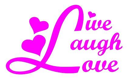 425x271 Live Laugh Love Car Window Vinyl Decal Sticker 5 Wide