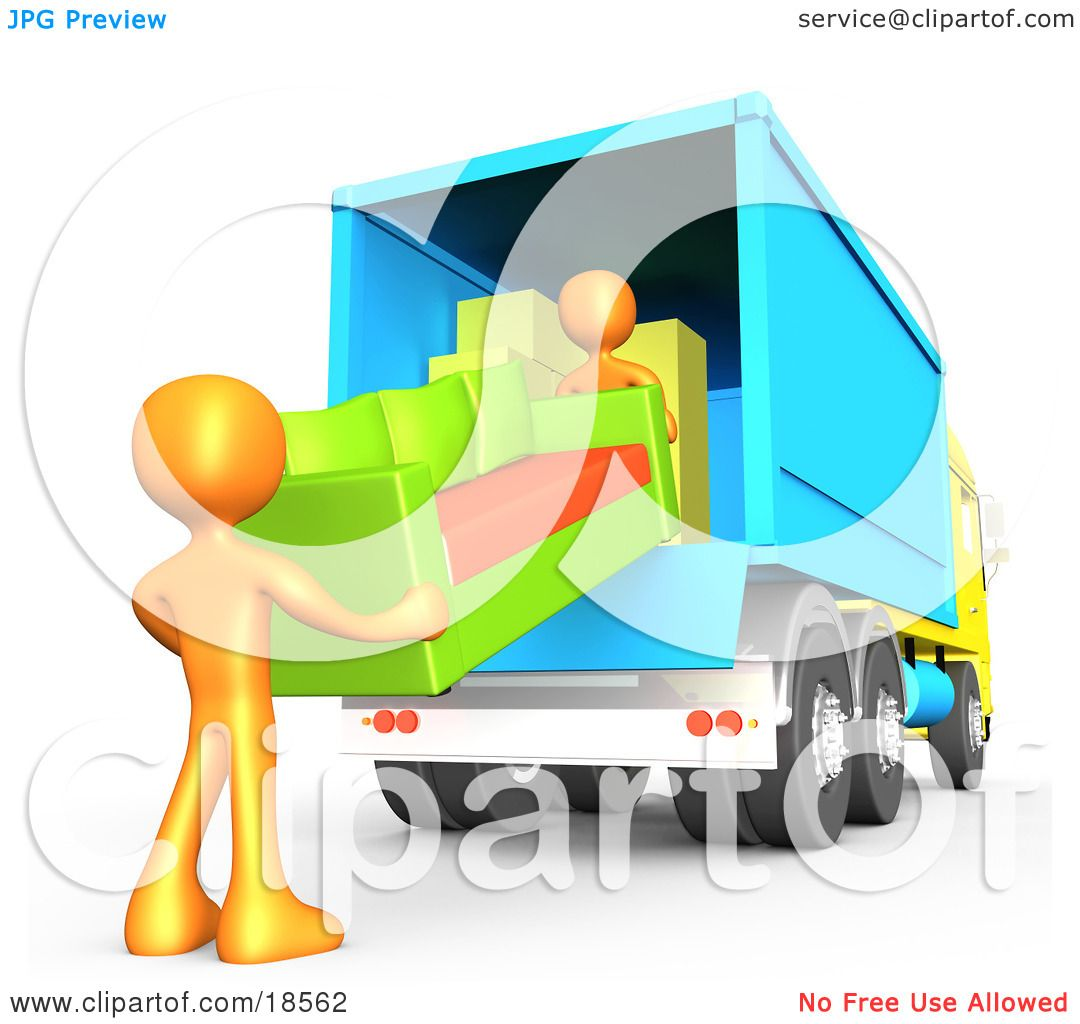 1080x1024 Clipart Illustration Of Two Orange Male Figures Lifting